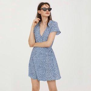 Divided H&M   Floral Wrap Tie Mini Dress